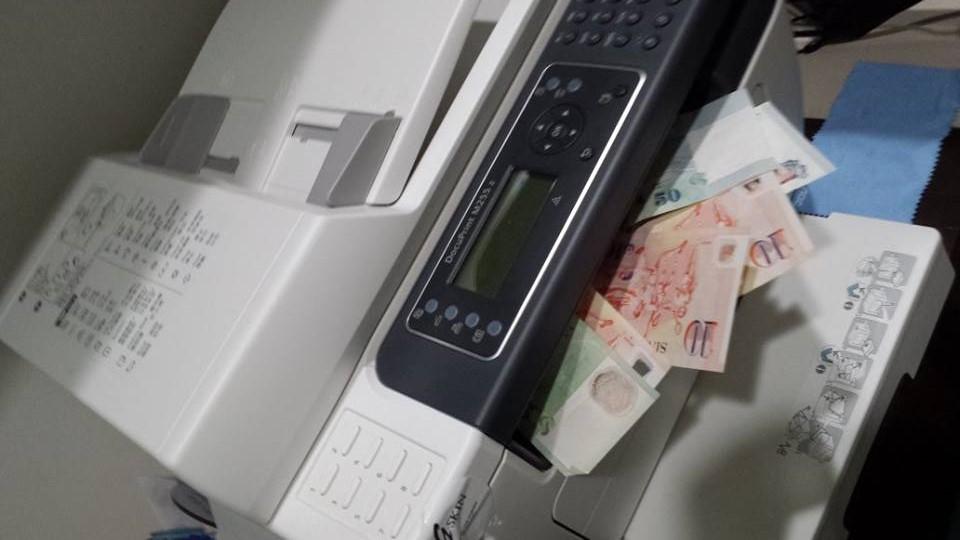 Printing money at Happy Tissue