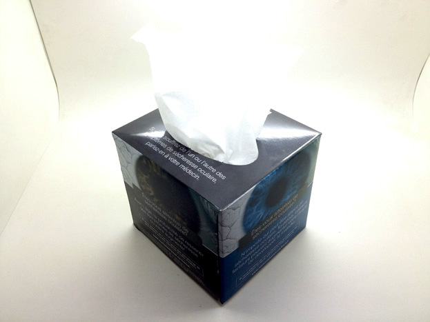 tissue advertising
