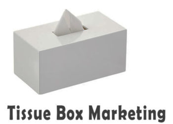 Tissue advertising, tissue printing, customized tissue, tissue marketing, tissue branding