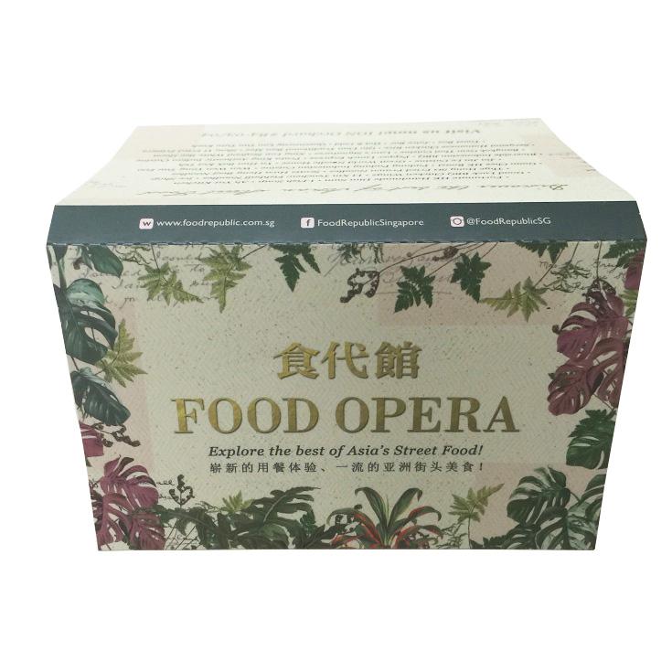 Food Opera (3panel) Tissue printing singapore