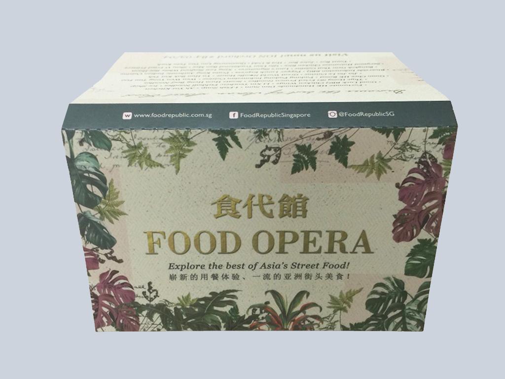 Food Opera (3panel) customised tissue pack