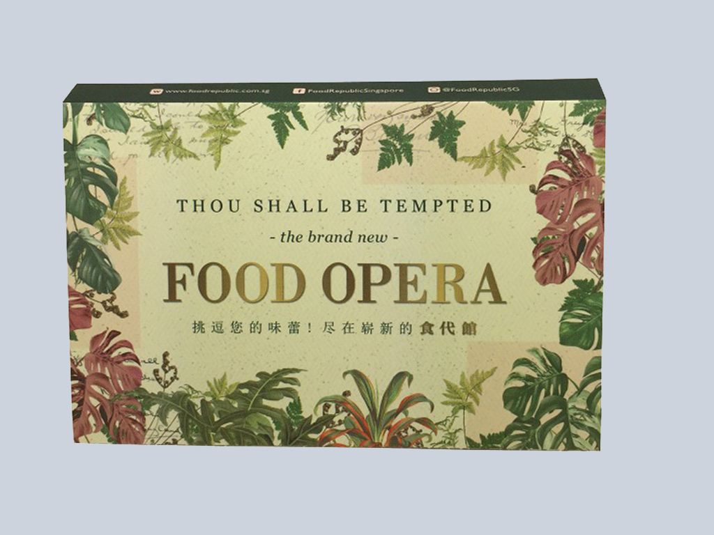 Food Opera (5panel) tissue marketing