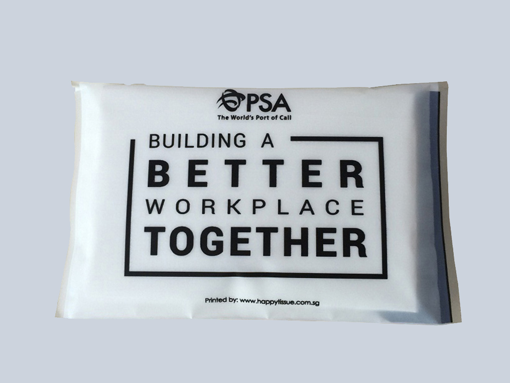 PSA advertising tissue