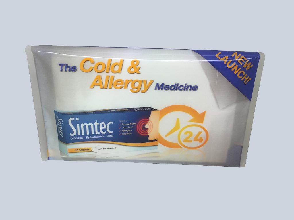 The cold & allergy medicine customised tissue Singapore